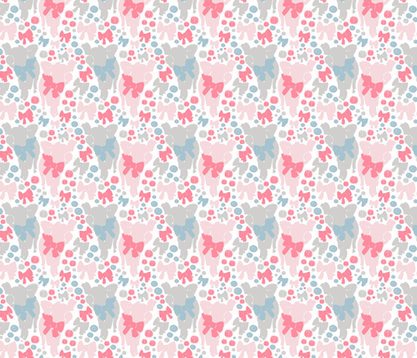 Little Bow Pig fabric by emma_smith on Spoonflower - custom fabric