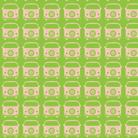 camper green fabric by weebeastiecreations on Spoonflower - custom fabric