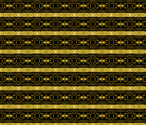 Vintage Tiki Gold and Black Chain Pattern fabric by elramsay on Spoonflower - custom fabric