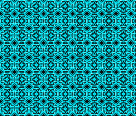 Vintage Tiki Diamond Pattern fabric by elramsay on Spoonflower - custom fabric