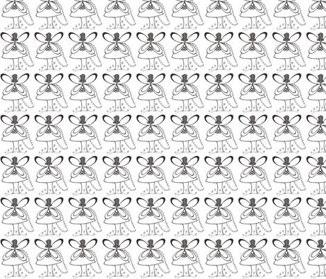 Pixie's Alibi White Fairy-Basic fabric by heatherhatadaboyd on Spoonflower - custom fabric