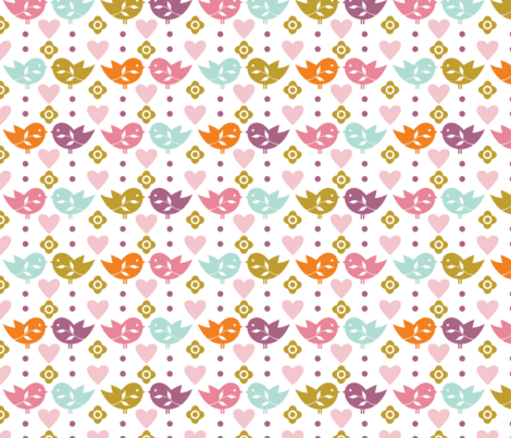 Happy Easter full of Love No.2 fabric by rozo on Spoonflower - custom fabric