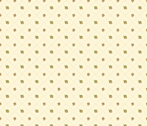 Acorns fabric by macywong on Spoonflower - custom fabric
