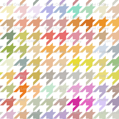 Colorful Hounds Tooth Pastelle