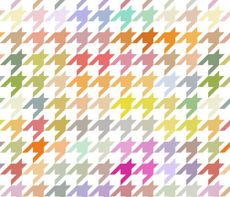 Colorful Hounds Tooth Pastelle fabric by littlerhodydesign on Spoonflower - custom fabric