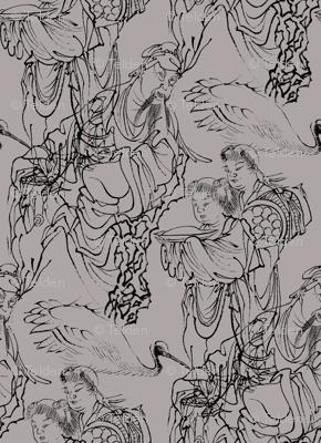 Rinnasei, Chinese Poet - Art from Japan