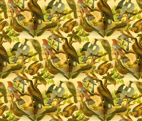 Farmhouse Birds Art fabric by telden on Spoonflower - custom fabric