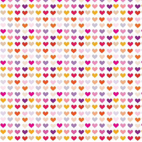 Warm Hearts! - © PinkSodaPop 4ComputerHeaven.com fabric by pinksodapop on Spoonflower - custom fabric