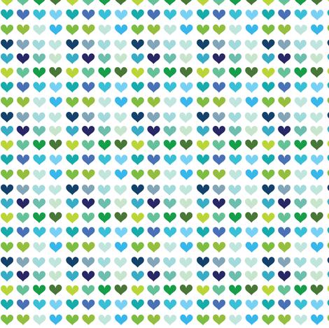 Cool Hearts! - © PinkSodaPop 4ComputerHeaven.com fabric by pinksodapop on Spoonflower - custom fabric