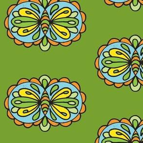Swirly Green butterfly