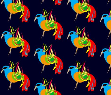 Mystery Pigeons fabric by retroretro on Spoonflower - custom fabric