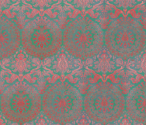 Catherine of Aragon ~ Rococo Bold fabric by peacoquettedesigns on Spoonflower - custom fabric