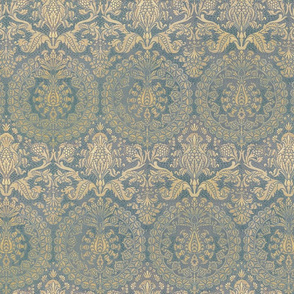 Catherine of Aragon ~ Provencal Blue and Gold