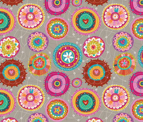 Love Mandalas fabric by cynthiafrenette on Spoonflower - custom fabric