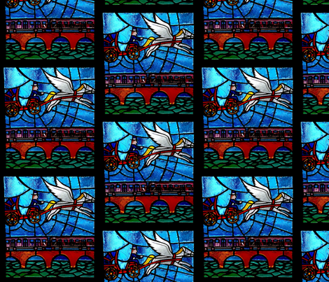 Pegasus Stained Glass 2 fabric by relative_of_otis on Spoonflower - custom fabric