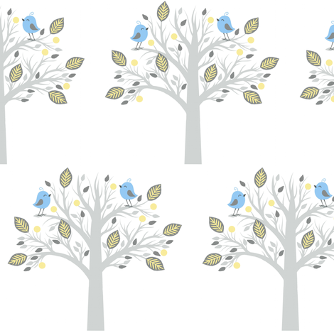 Happy chat / tree fabric by paragonstudios on Spoonflower - custom fabric