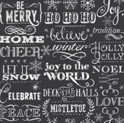 Christmas Sayings, Chalkboard