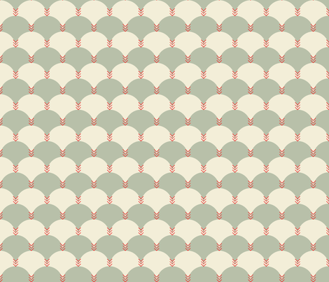 Scallops & Chevrons_JH_9 fabric by michelerosenboom on Spoonflower - custom fabric