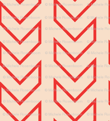 Chevron_Tracks_LARGE_Coral Colorway