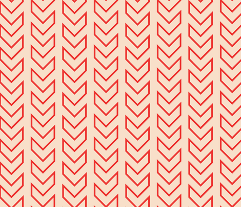 Chevron_Tracks_LARGE_Coral Colorway fabric by michelerosenboom on Spoonflower - custom fabric