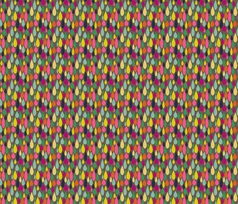 Rainbow Tears on grey fabric by heidikenney on Spoonflower - custom fabric