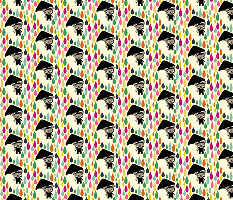 Cry Baby Bear Rainbow Rain fabric by heidikenney on Spoonflower - custom fabric