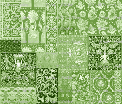 Henry VIII Was A Cheater ... Quilt ~ Moss Green