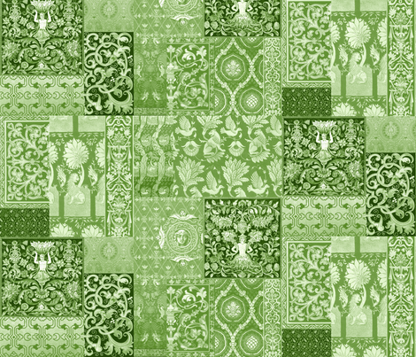 Henry VIII Was A Cheater ... Quilt ~ Moss Green fabric by peacoquettedesigns on Spoonflower - custom fabric