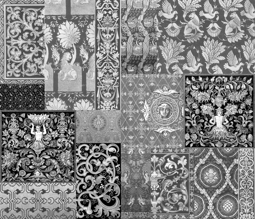 Henry viii was a cheater quilt black and white fabric peacoquettedesigns spoonflower