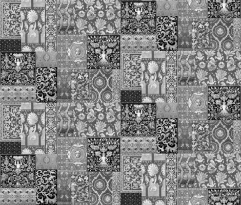 Henry VIII Was A Cheater ... Quilt ~ Black and White fabric by peacoquettedesigns on Spoonflower - custom fabric