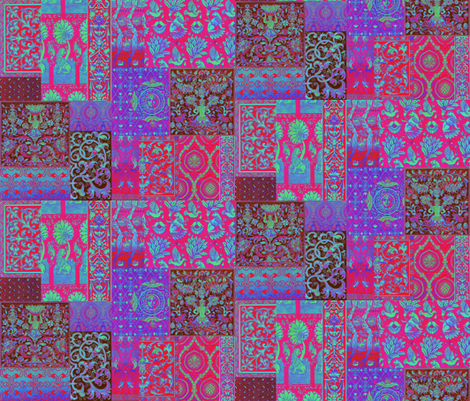 Henry VIII Was A Cheater ... Quilt ~ Magenta Psychedelic  fabric by peacoquettedesigns on Spoonflower - custom fabric