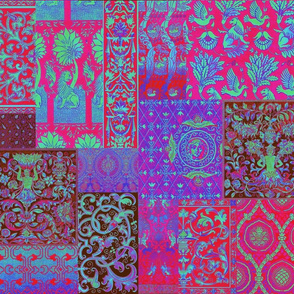 Henry VIII Was A Cheater ... Quilt ~ Magenta Psychedelic