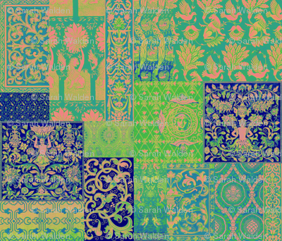 Henry VIII Was A Cheater ... Quilt ~ Blue Psychedelic