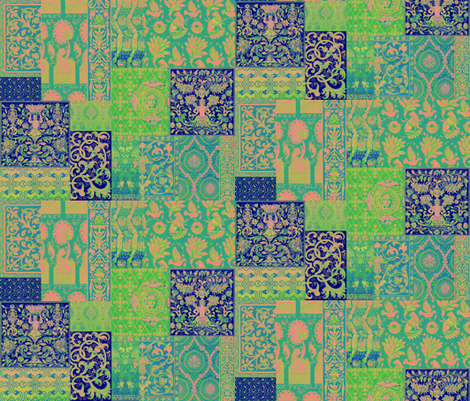 Henry VIII Was A Cheater ... Quilt ~ Blue Psychedelic  fabric by peacoquettedesigns on Spoonflower - custom fabric