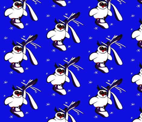 Owl2 fabric by retroretro on Spoonflower - custom fabric