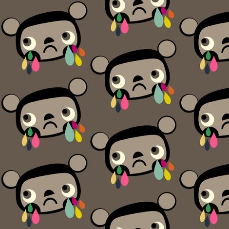 Sad Bear Face fabric by heidikenney on Spoonflower - custom fabric