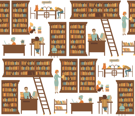 Reference Librarian fabric by laurawilson on Spoonflower - custom fabric