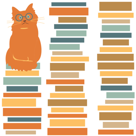 Library Cat fabric by laurawilson on Spoonflower - custom fabric