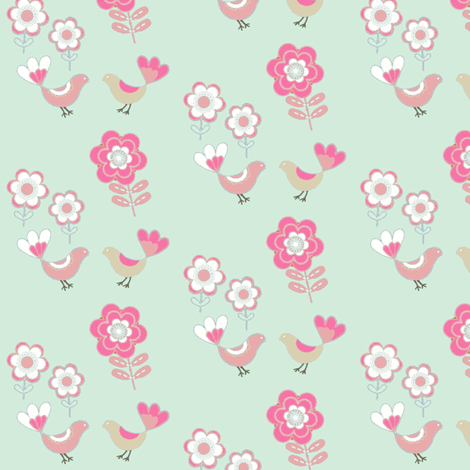 Funday birdie love fabric by paragonstudios on Spoonflower - custom fabric