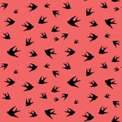 Rrrrrrrrflying_sparrow_black_on_coral_shop_thumb