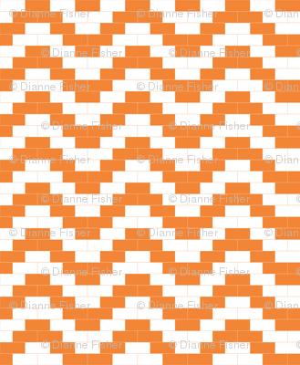 Brick Zigzag - orange