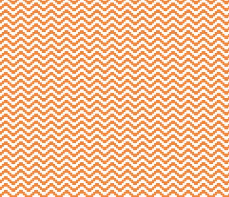 Brick Zigzag - orange fabric by little_fish on Spoonflower - custom fabric