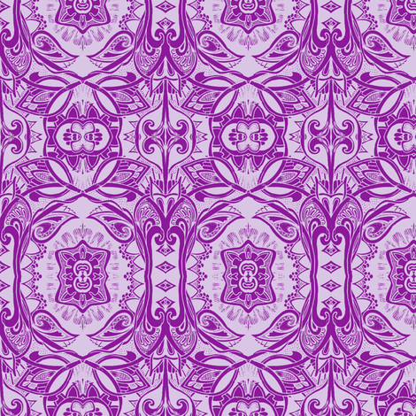 Purple Daze (a psychedelic retro sixties vine and scallop trip) fabric by edsel2084 on Spoonflower - custom fabric