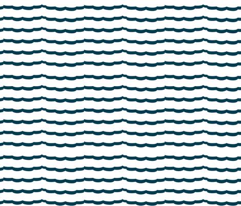 Nautical Blue Scallops fabric by karenharveycox on Spoonflower - custom fabric