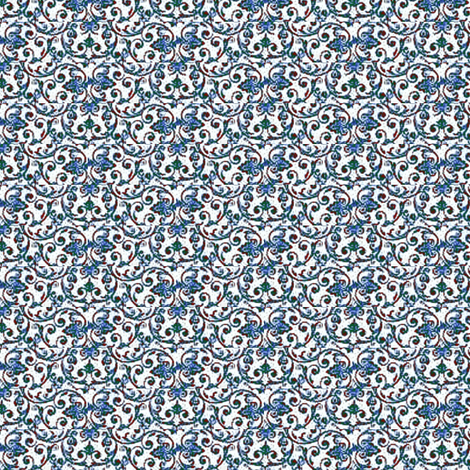 Table Linen Blue fabric by amyvail on Spoonflower - custom fabric
