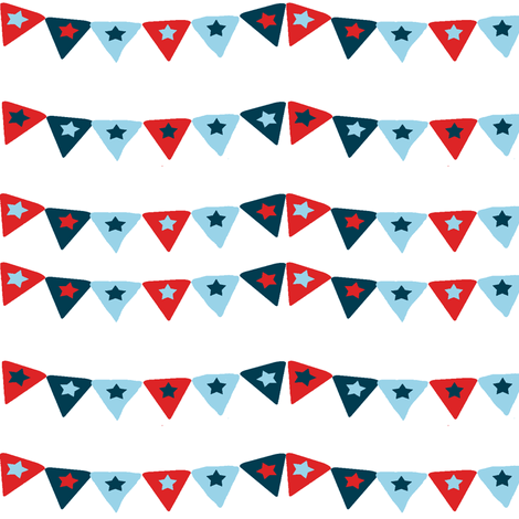 A nautical Bunting fabric by karenharveycox on Spoonflower - custom fabric