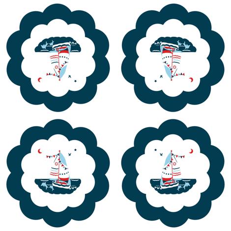 The Scallop Sea fabric by karenharveycox on Spoonflower - custom fabric
