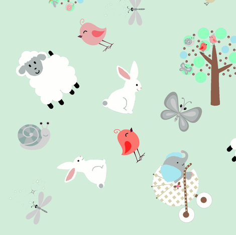 funday scatter mint fabric by paragonstudios on Spoonflower - custom fabric