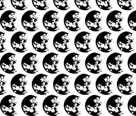 Moon fabric by jelliclestudio on Spoonflower - custom fabric