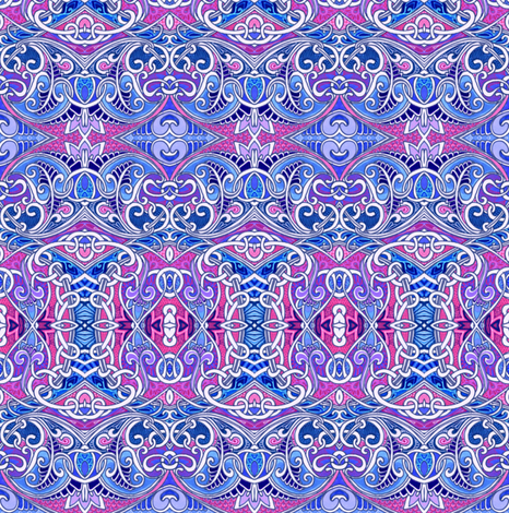 Knit One, Curl Two fabric by edsel2084 on Spoonflower - custom fabric
